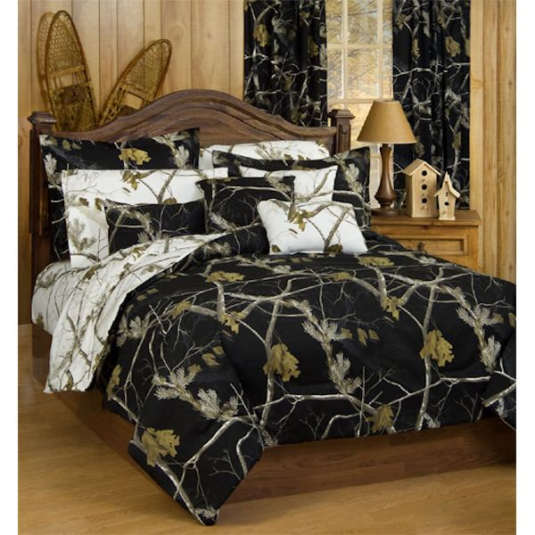 All Purpose Black And White Comforter Sets By Real Tree
