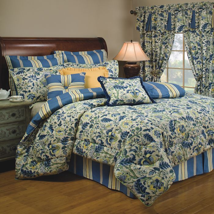 Imperial dress porcelain comforter set by waverly townhouse linens