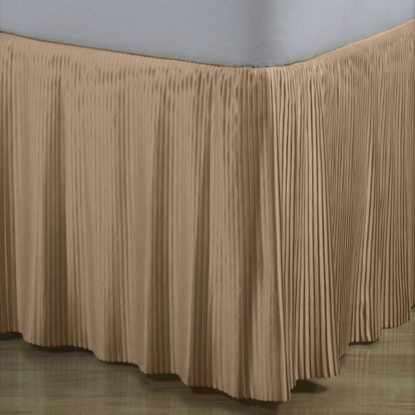 Hyde Park Mini Pleat Taupe Satin Bedskirt 14 Quot And 18