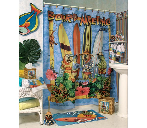 Board Meeting Shower Curtain and Bathroom Accessories