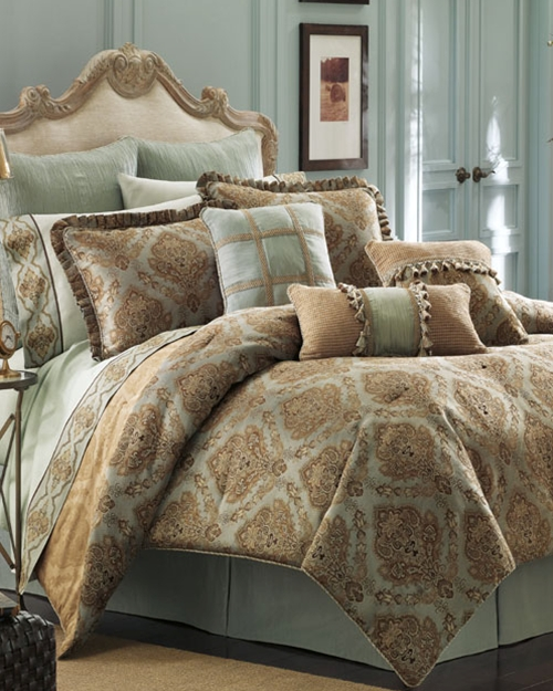 Laviano Aqua Bedding Ensemble By Croscill Townhouse Linens