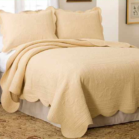 French Tile Solid Quilt In Gold Townhouse Linens