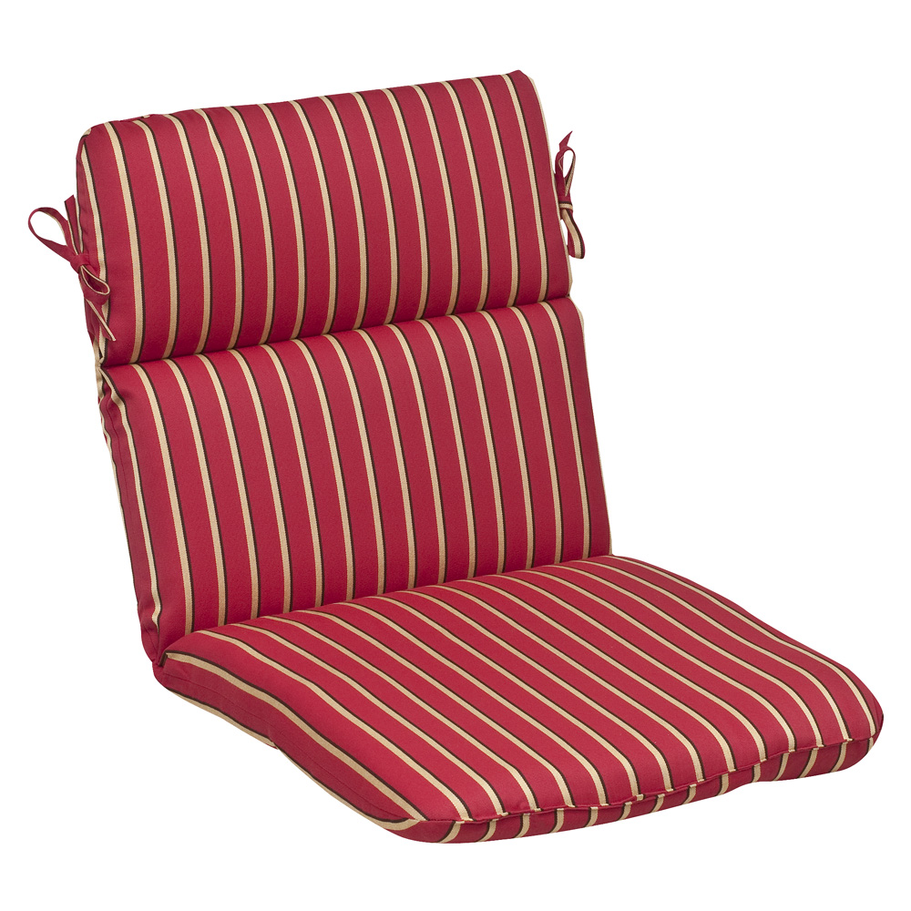 Red Gold Striped Sunbrella Outdoor Cushion Collection