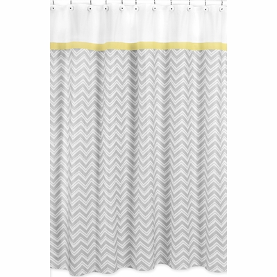 Zig Zag Yellow And Gray Shower Curtain Townhouse Linens