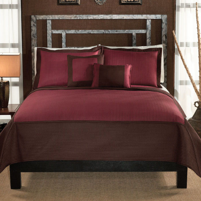 Barclay Chocolate Red Quilt With Shams Townhouse Linens