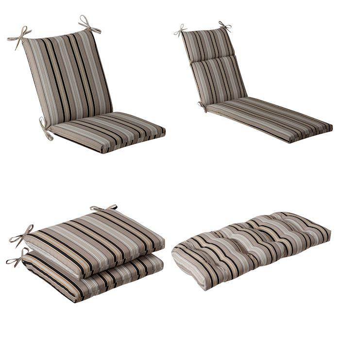 Black Beige Striped Outdoor Cushion Collection Townhouse