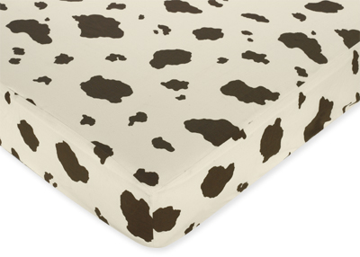 Kitchen Curtains on West Crib Sheet   52 In X 28 In X 8 In   Cow Print  Childrens Room D