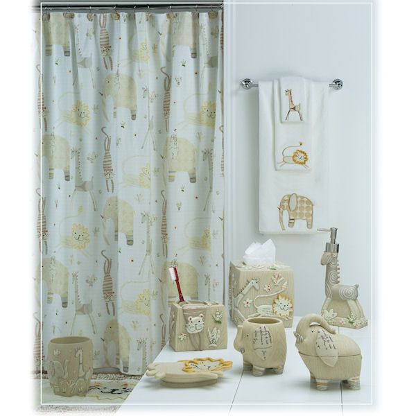 animal crackers shower curtain bath accessories by