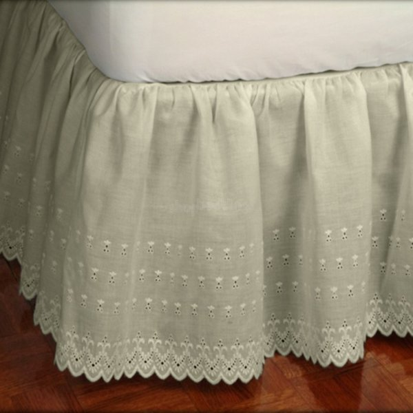 Victorian Eyelet 14 Quot Drop Ivory Dust Ruffle Townhouse Linens