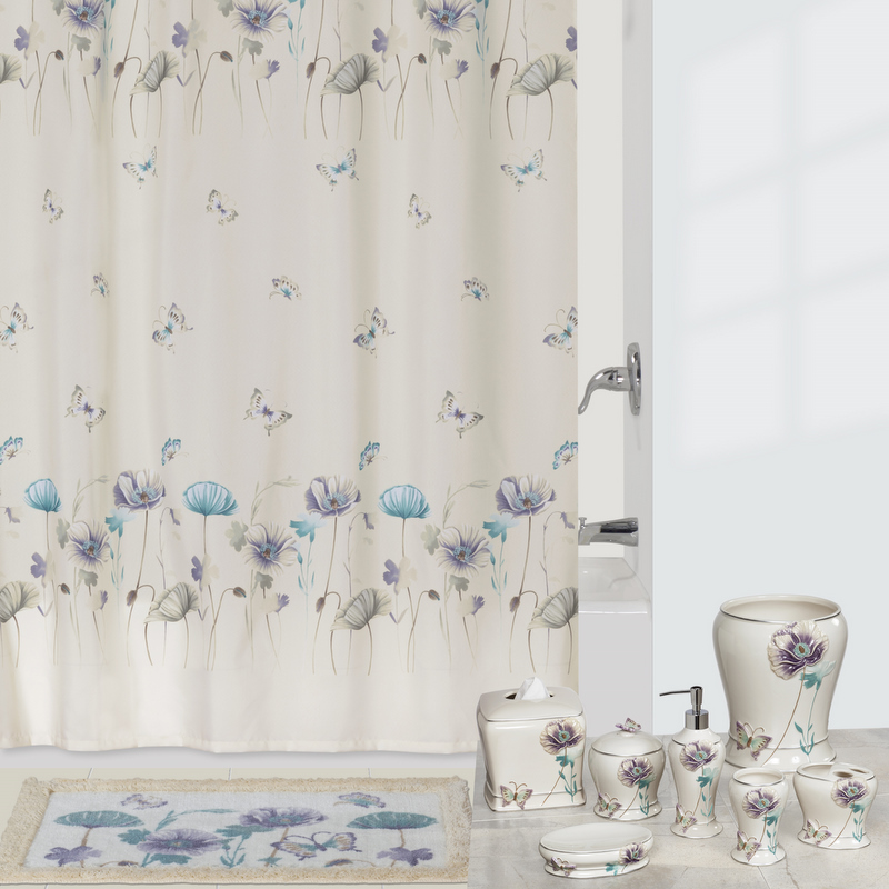 garden gate shower curtain shower curtain and bath accessories by creative bath townhouse linens