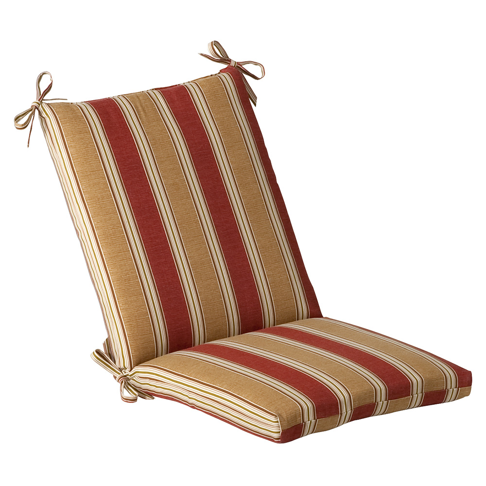 Red Gold Striped Outdoor Cushion Collection Townhouse Linens