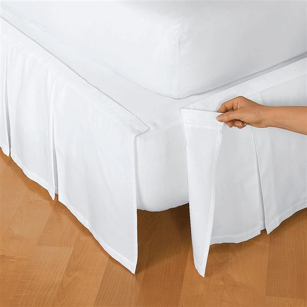 Detachable 100 Cotton Box Pleat Bedskirt Townhouse Linens