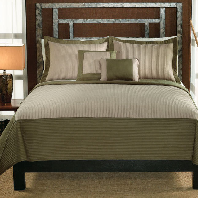 Barclay Sage Tan Quilt With Shams Townhouse Linens