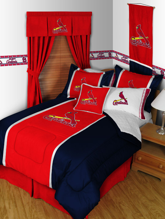 St Louis Cardinals Mvp Bedding By Sports Coverage Townhouse Linens