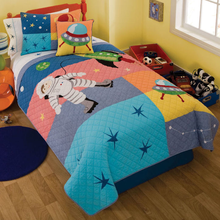 Astronaut Quilt With Pillow Sham Townhouse Linens