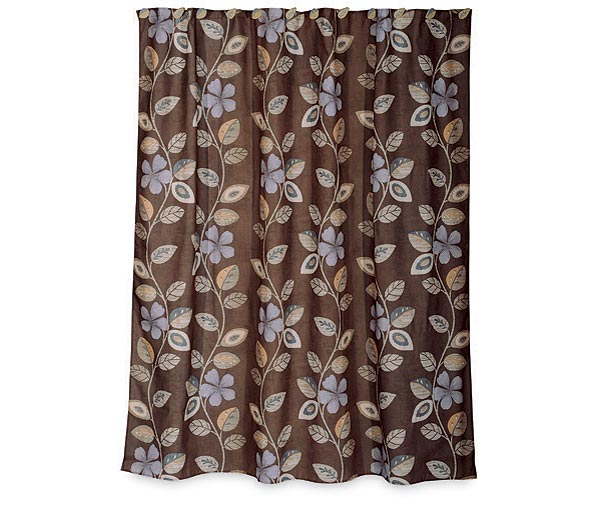 Fleur Parquet Shower Curtain and Bath Accessories ...