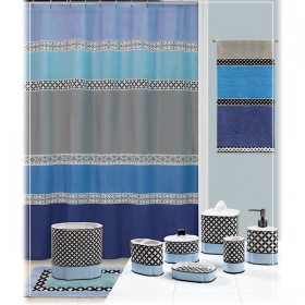 Madrid Blue Gray Shower Curtain Bath Accessories By Creative