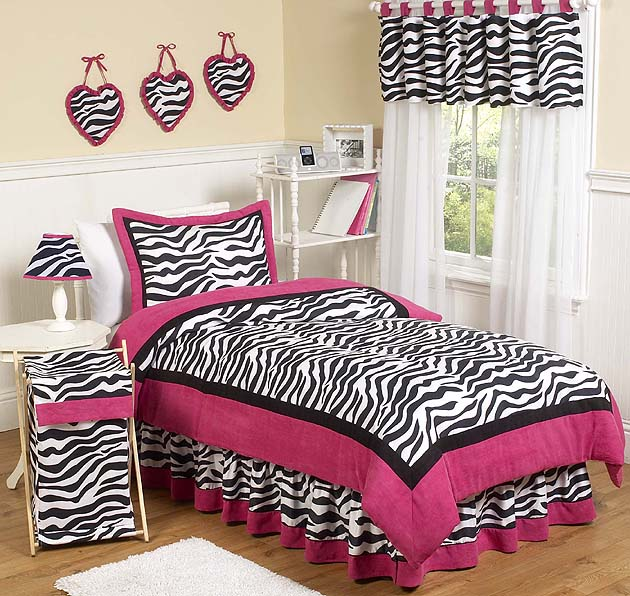 Zebra Pink 4pc Twin Bedding Set Children S Bedding