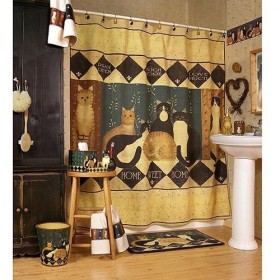 Country Cats Shower Curtain Amp Bath Accessories Townhouse
