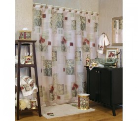Tulip And Lilly Shower Curtain And Matching Bath