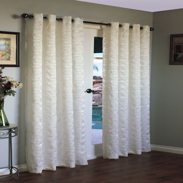 white grommet curtain panels images