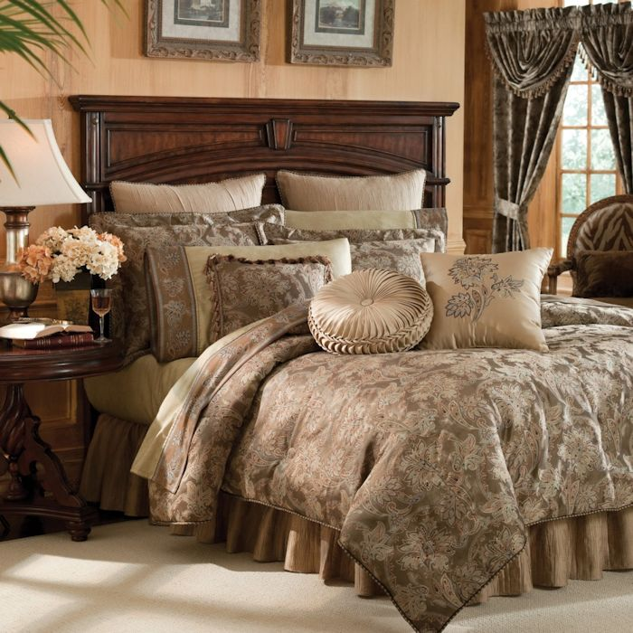 Bedding For Full Size Beds Bed Mattress Sale Botticelli Taupe Bedding Ensemble By Croscill - Townhouse ...