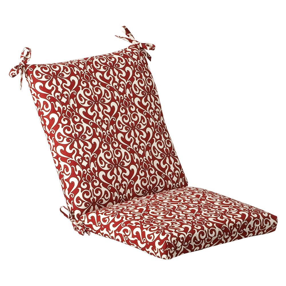 Bedford Red White Damask Outdoor Cushion Collection