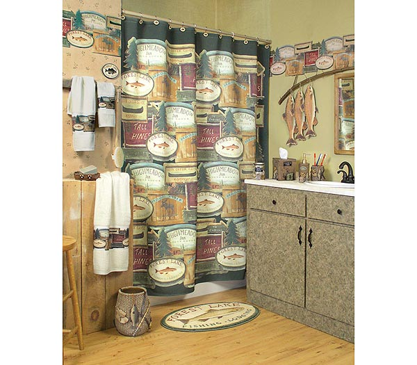 Rather Be Fishing Shower Curtain and Bath Accessories