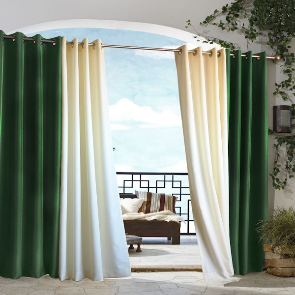 K68 BURGUNDY, 63 SHORT GorgeousHome 1 Single Solid Outdoor Grommet Patio Panel Multi-functional Gazebo Unlined Curtain Thermal Light Blocking 37 Wide in Many Colors