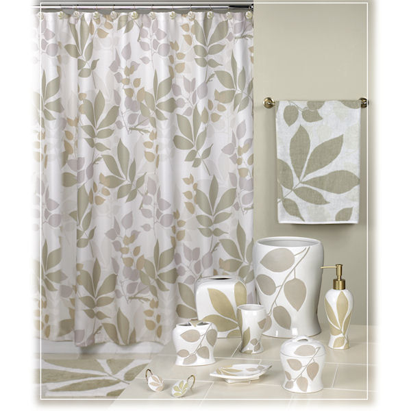 Shadow Leaves Natural Amp Brown Shower Curtain Amp Bath