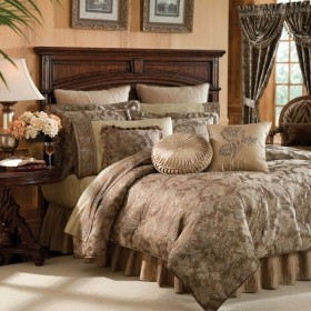 Botticelli Taupe Bedding Ensemble By Croscill Townhouse