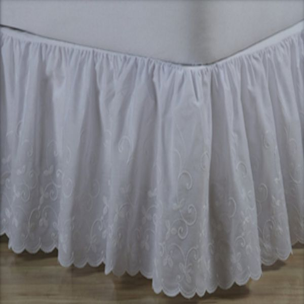 Candlewicking 14 Quot Drop White Bedskirt Townhouse Linens