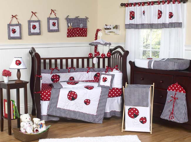 Jojo Designs Little Ladybug 9pc Crib Bedding Set Baby