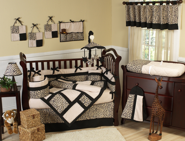 Jojo Designs Animal Safari 9pc Crib Bedding Set Baby
