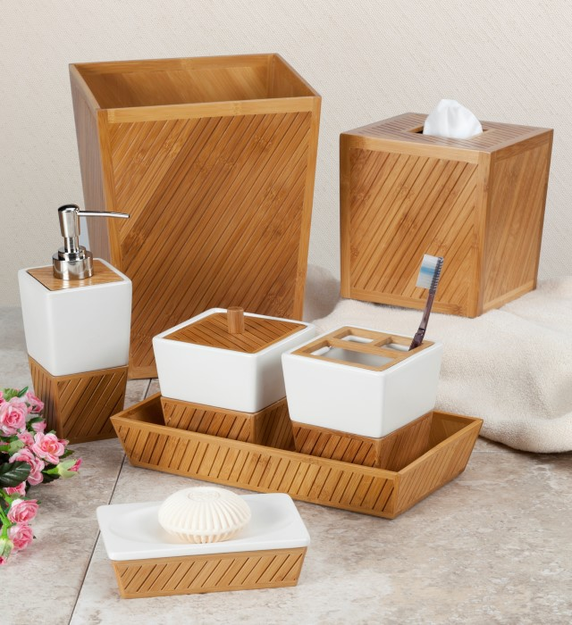 Spa Bamboo Teak Bathroom Accessories By Creative Bath Townhouse Linens