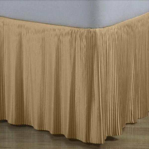Hyde Park Mini Pleat Gold Satin Bedskirt 14 Quot And 18