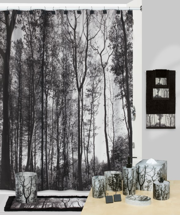 Sylvan PhotoReal Woods Shower Curtain And Bath Accessories By Creative