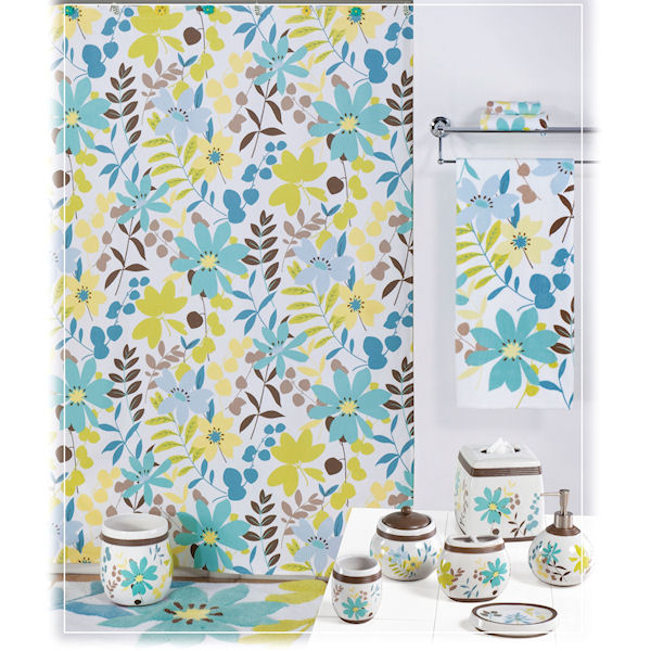 paradise shower curtain bath accessories by creative