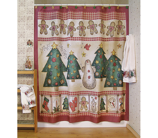 Gingerbread House Shower Curtain And Bath Accessories