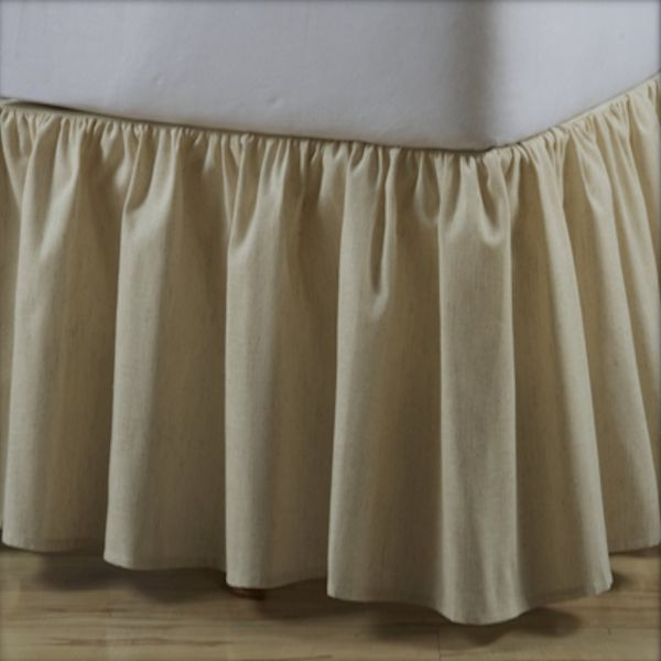 Linen Gathered Natural Dust Ruffle 14 Quot And 18 Quot Drops
