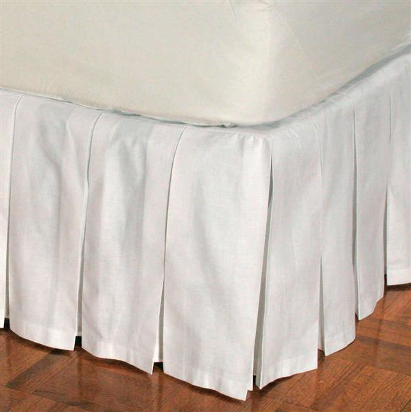 100 Cotton Box Pleated Bedskirt Townhouse Linens