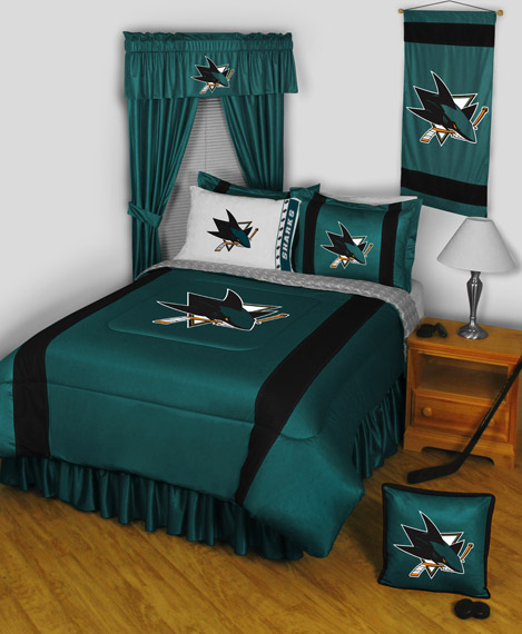 San Jose Sharks Sidelines Bedding By Sports Coverage