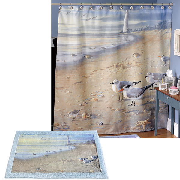 At the Beach Shower Curtain & Bath Accessories - Townhouse Linens