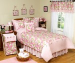 Pink and Tan Camo Girl's bedding