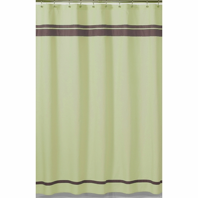 Hotel Green And Brown Fabric Shower Curtain Townhouse Linens