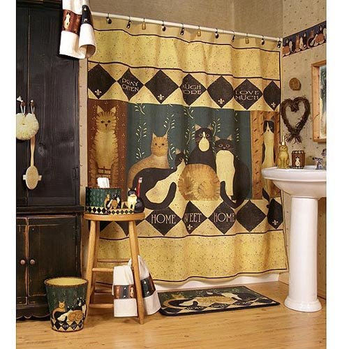 country cats shower curtain bath accessories townhouse