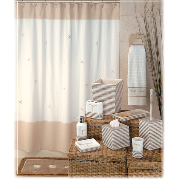 Dragonfly Shower Curtain & Bath Accessories by Creative