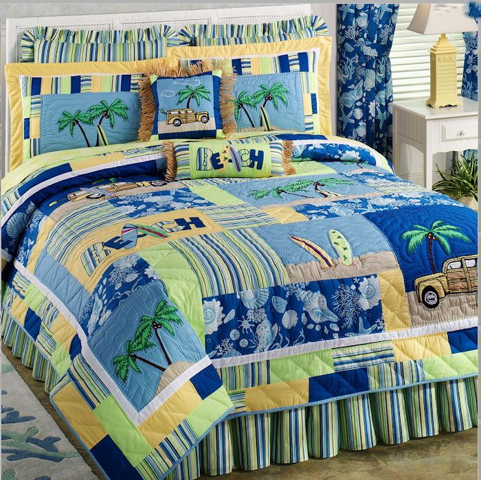 Surfers Bay Tropical Quilt And Accessories By C Amp F Townhouse Linens