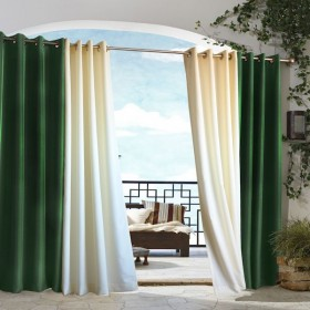 Gazebo Solid Indoor Outdoor Grommet Top Curtain Panel