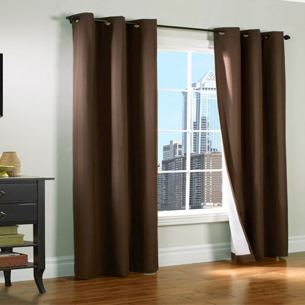 Prelude Brown Insulated Thermalogic Grommet Top Curtain